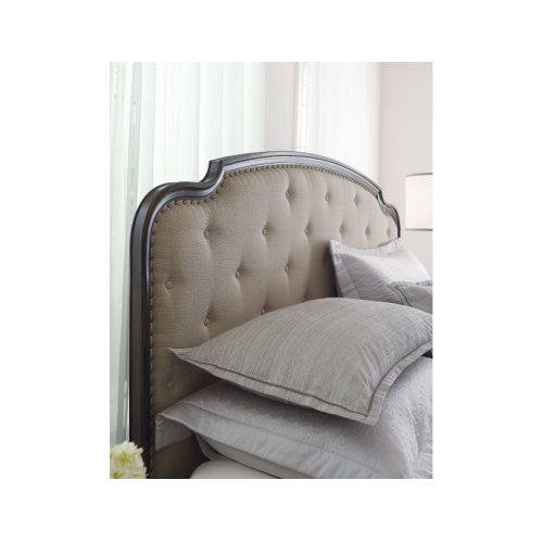 Upholstered King Panel Bed Complete