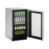 """U-Line Modular 3000 Series 18"""" Glass Door Refrigerator With Stainless Frame Finish And Field Reversible Door Swing (115 Volts / 60 Hz)"""