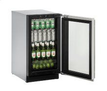 "Modular 3000 Series 18"" Glass Door Refrigerator With Stainless Frame Finish and Field Reversible Door Swing (115 Volts / 60 Hz)"