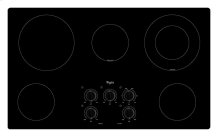 36 in. Electric Cooktop with Warm Zone element