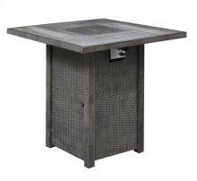 42'' Square Pub Table W/fire Pit-brown (1/ctn)