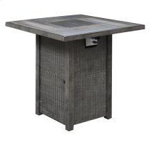 42'' Square Pub Table W/fire Pit-brown (1/ctn)