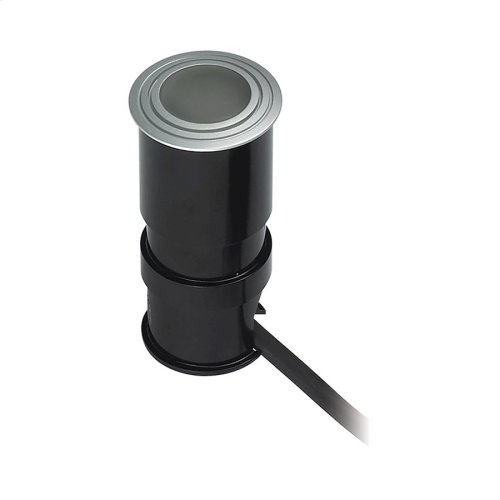 Wet Spot 1-Light Button Light in Metallic Grey with Frosted Glass Lens - Integrated LED
