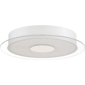 Moonlit Flush Mount in White Lustre