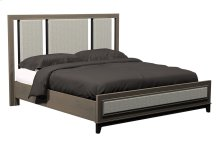 American Modern Wood & Upholstered Queen Bed