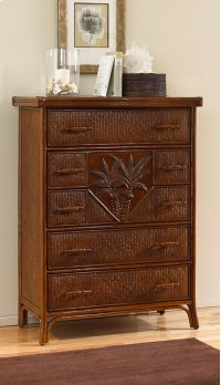 Havana Palm Five Drawer Chest Product Image