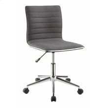 Modern Grey and Chrome Home Office Chair