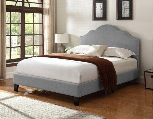 Emerald Home Madison Upholstered Bed Kit Full Light Gray B131-09hbfbr-03