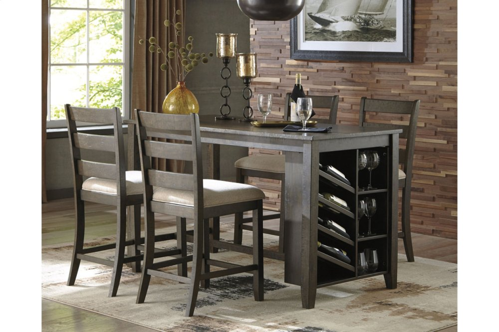 D39732Ashley Furniture RECT Counter Table w/Storage - Westco ...