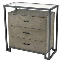 Mezzanine 3-drawer Chest In Pewter