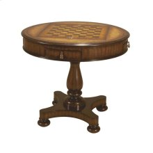 MAHOGANY ROUND GAMEBOARD TABLE