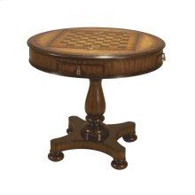 MAHOGANY ROUND GAMEBOARD TABLE