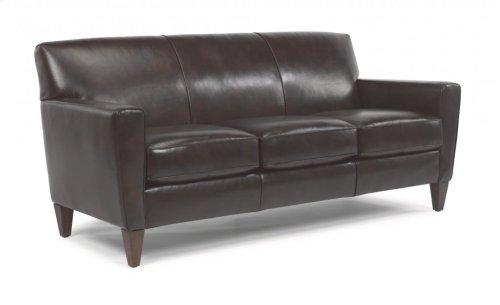 Digby Leather Three-Cushion Sofa