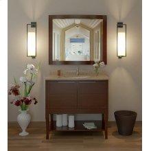 Aura Solid Wood Bathroom Vanity - 36 Inch