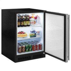 """Marvel24"""" All Refrigerator - Marvel Refrigeration - Solid Stainless Steel Door - Right Hinge"""