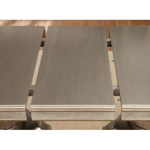 Danette Metallic Seven-piece Double Pedestal Dining Set