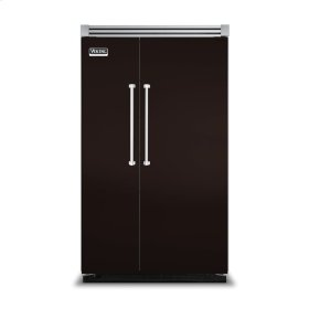"""Chocolate 48"""" Side-by-Side Refrigerator/Freezer - VISB (Integrated Installation)"""