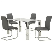 Frankfurt/Maxim 5pc Dining Set, Grey