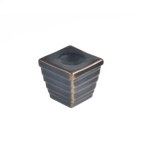 Oil Rubbed Bronze Forged 2 Medium Cube Knob 1 1/4 Inch