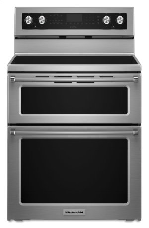 30-Inch 5 Burner Electric Double Oven Convection Range - Stainless Steel Product Image