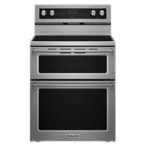 30-Inch 5 Burner Electric Double Oven Convection Range - Stainless Steel - STAINLESS STEEL