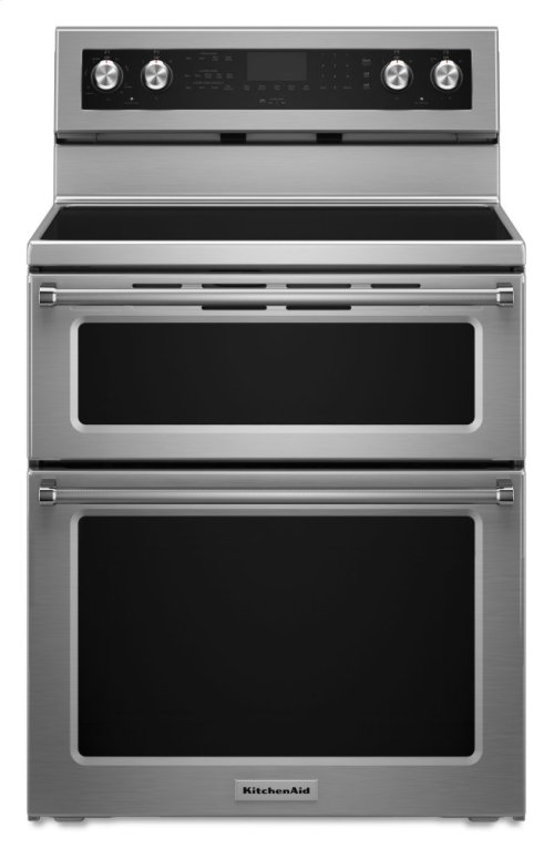 30-Inch 5 Burner Electric Double Oven Convection Range - Stainless Steel