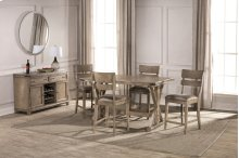 Leclair 5 Piece Counter Height Dining Set - Wire Brushed Vintage Gray