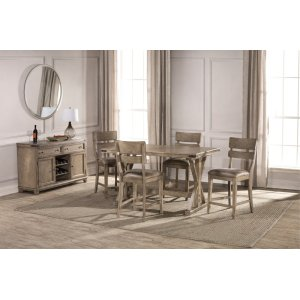 Hillsdale FurnitureLeclair 5 Piece Counter Height Dining Set - Wire Brushed Vintage Gray