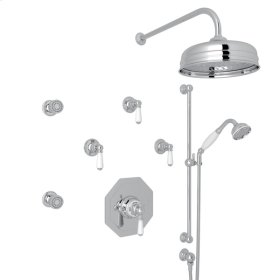 Polished Chrome Edwardian U.KIT37L Thermostatic Shower Package with Metal Lever