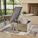 Metro Square Storage Ottoman-Grey Hair-on-Hide Product Image