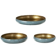 Gold & Blue Ombre Tray (3 pc. set)