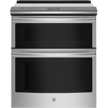 """OPEN BOX GE Profile™ Series 30"""" Slide-In Electric Double Oven Convection Range"""