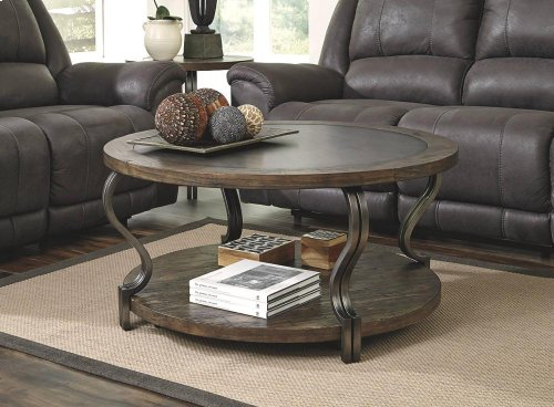 T739-8  Round Cocktail Table