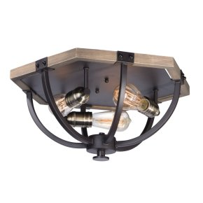Lodge 3-Light Flush Mount