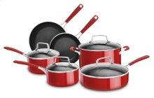 Aluminum Nonstick 10-Piece Set - Empire Red