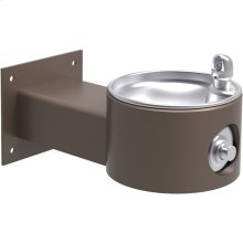 Elkay Outdoor Fountain Wall Mount Non-Filtered, Non-Refrigerated Freeze Resistant Brown