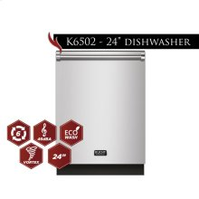"""Kucht 24"""" Top Control Dishwasher in Stainless Steel with Stainless Steel Tub and Multiple Filter System"""