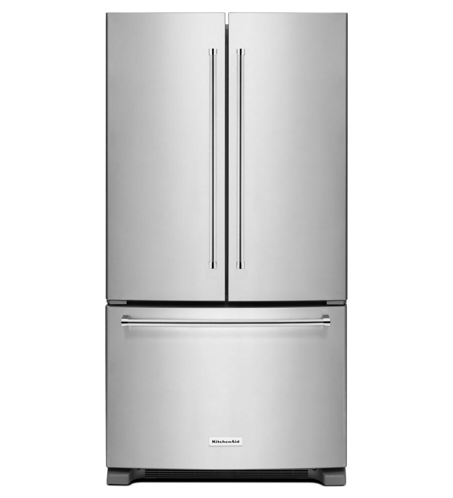 KitchenAid® 25 cu.ft. 36-Width Standard Depth French Door Refrigerator with Interior Dispense - Stainless Steel