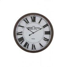 Clock 78x7 cm BANBURY white+brown