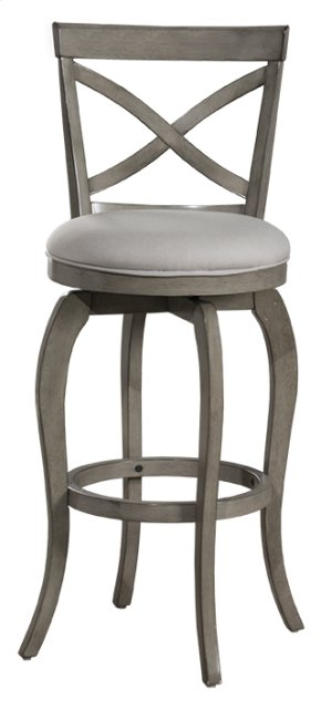 Ellendale Swivel Counter Stool - Aged Gray