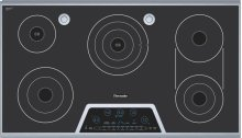 """36"""" Masterpiece Electric Cooktop with Touch Control and SensorDome and Bridge Element"""