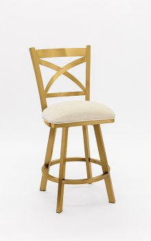 Edmonton Gold Stainless Steel Bar Stool