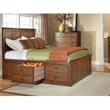 Oak Park Stadard Bed with Panel Headboard