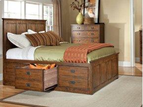 Oak Park Stadard Bed with Panel Headboard
