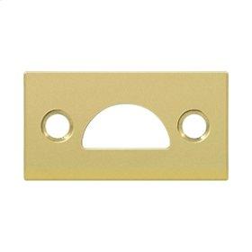 Mortise Strike, Solid Brass - Polished Brass