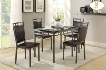 5-Piece Pack Dinette Set,Faux Marble Top Table: 30 x 48 x 30H Chair: 17.75 x 20.75 x 38.5H