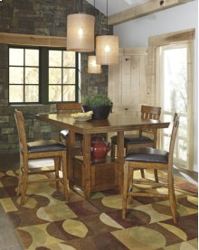 5pc Rectangular Counter Height Dinette-Ralene Medium Brown