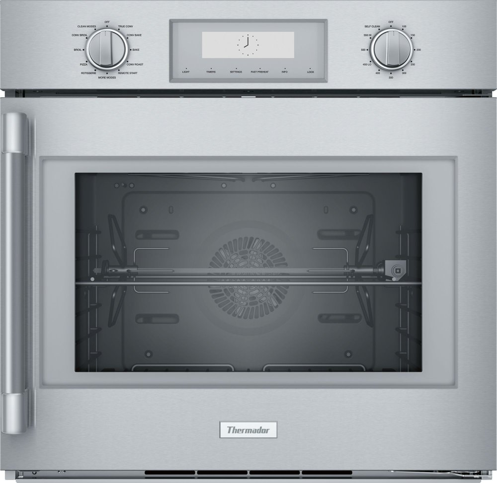 Thermador 30 Inch Professional Single Wall Oven With Right Side Swing Door Pod301rw