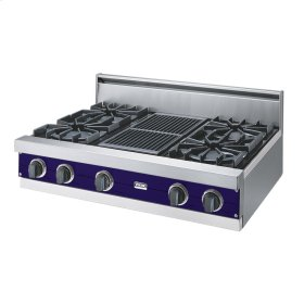 "Cobalt Blue 36"" Open Burner Rangetop - VGRT (36"" wide, four burners 12"" wide char-grill)"
