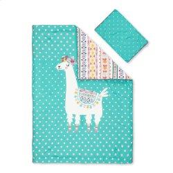 Kids Comforter and Pillowcase Festive Llama - 39''